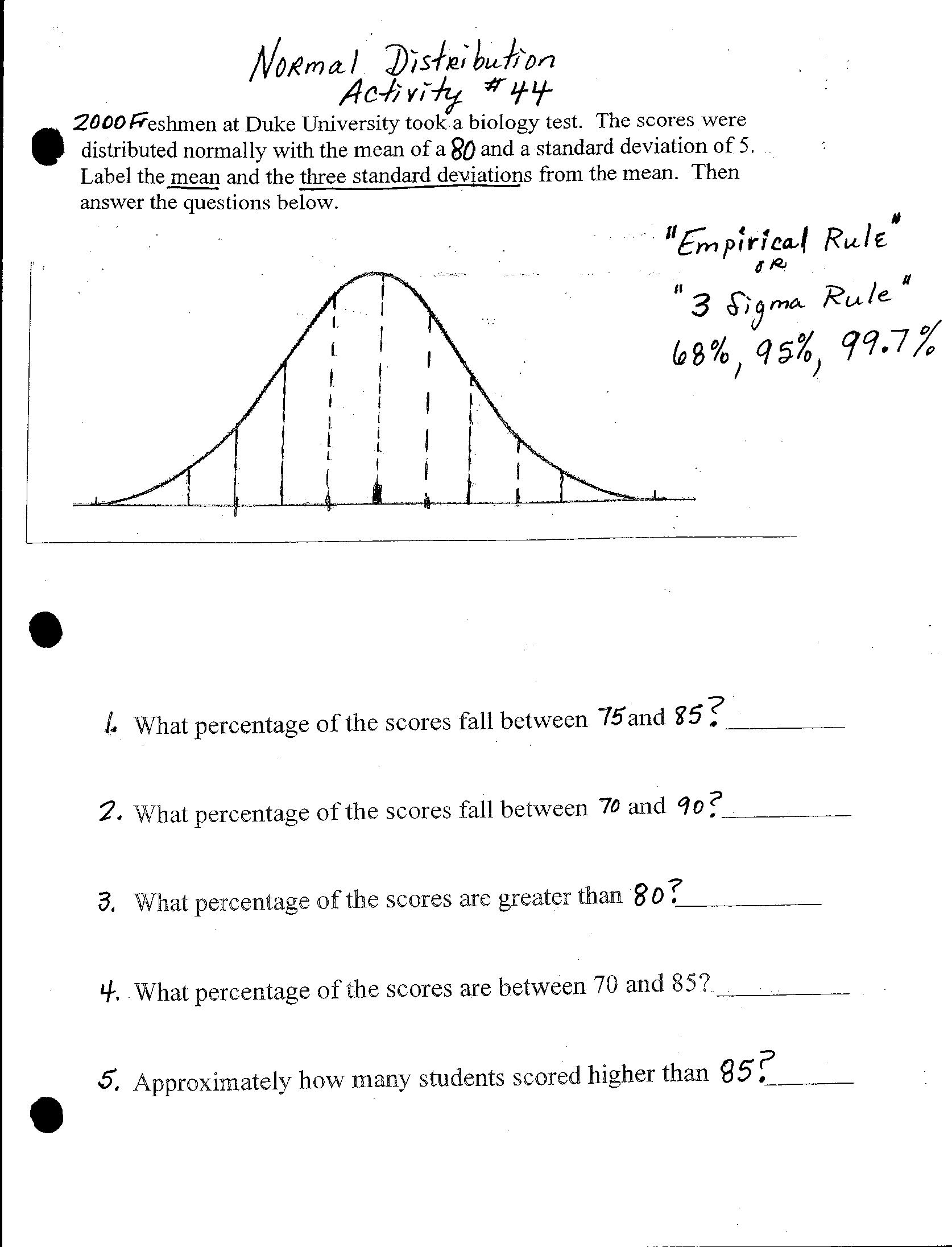 Worksheets Normal Distribution Worksheet normal distribution worksheet free worksheets library download on name answer key