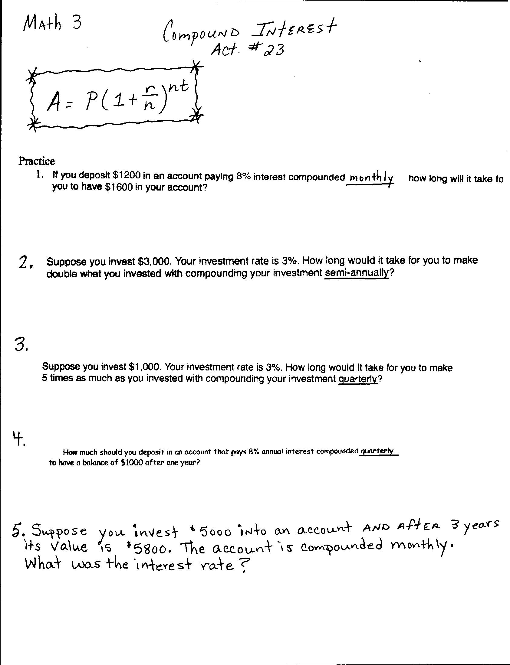 Worksheets Act Values Worksheet math 3 lessons